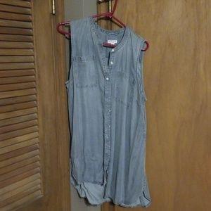 Sleeveless button down shirt